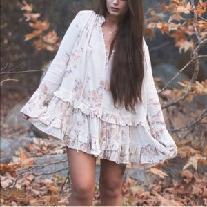 Free People | Clover Fields Ivory Tunic Dress